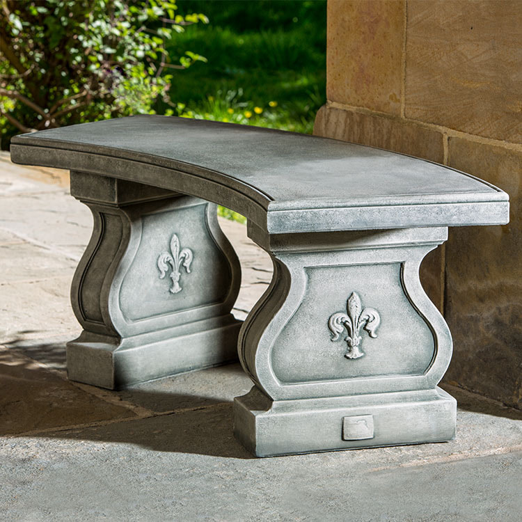Campania International Fleur-de-lis Curved Bench