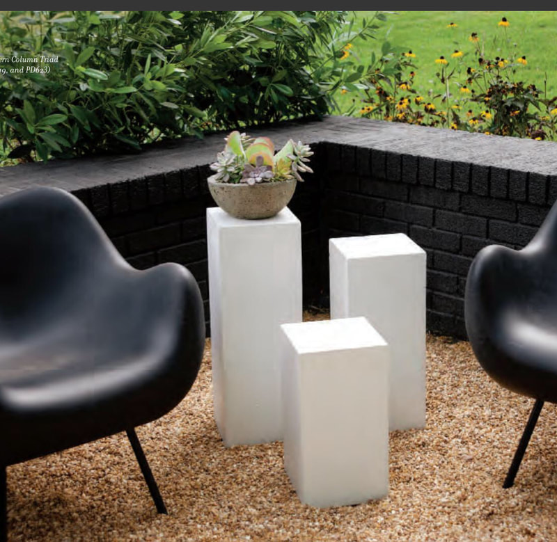 Elegant Earth Modern Column Triad