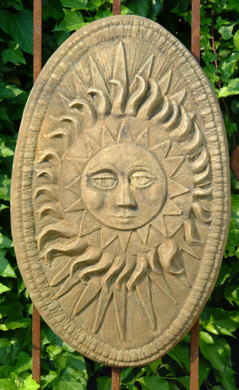 Unique Stone Oval Sun Plaque