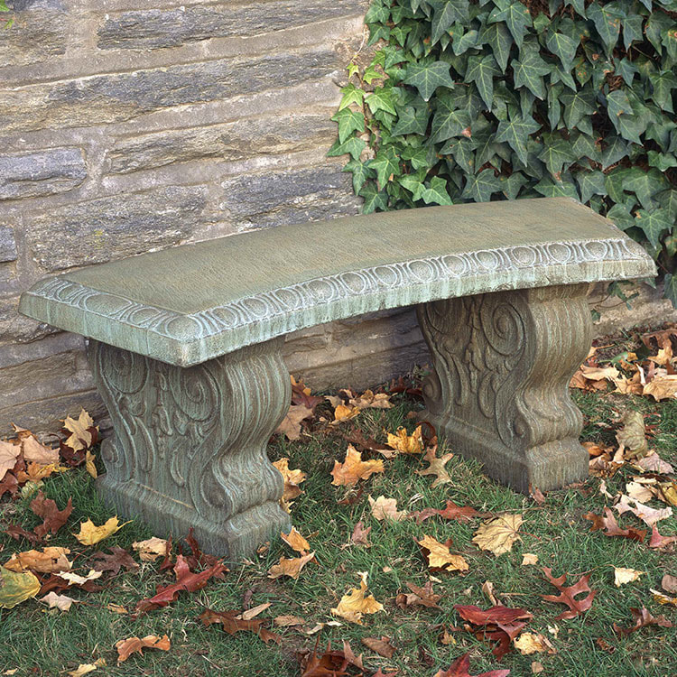 Campania International Traditional Curved Bench