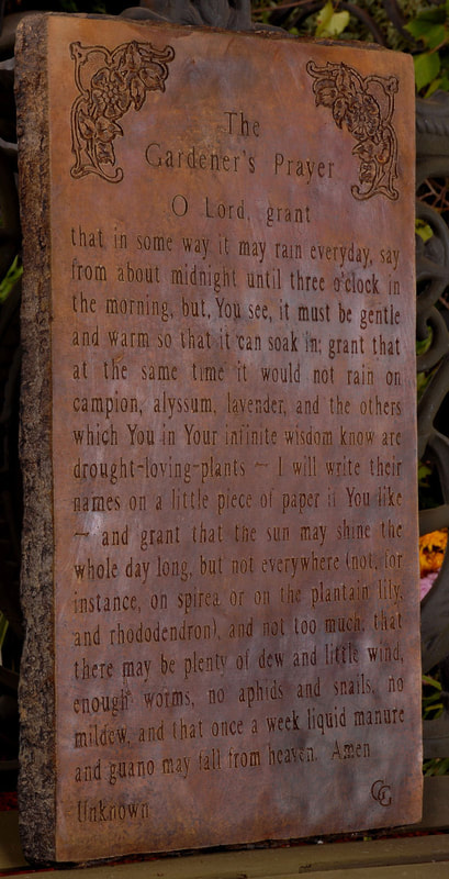 Unique Stone Gardener's Prayer