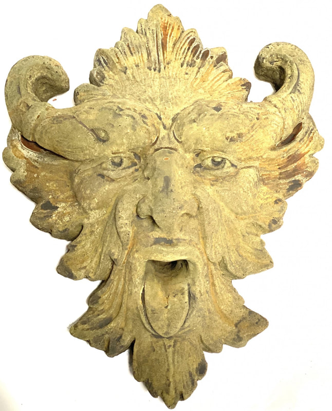 Unique Stone Gargoyle Wall Plaque