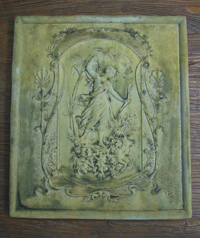 Unique Stone Victorian Huntress Plaque