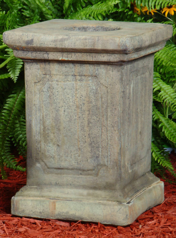 Unique Stone English Garden Pedestal - Large