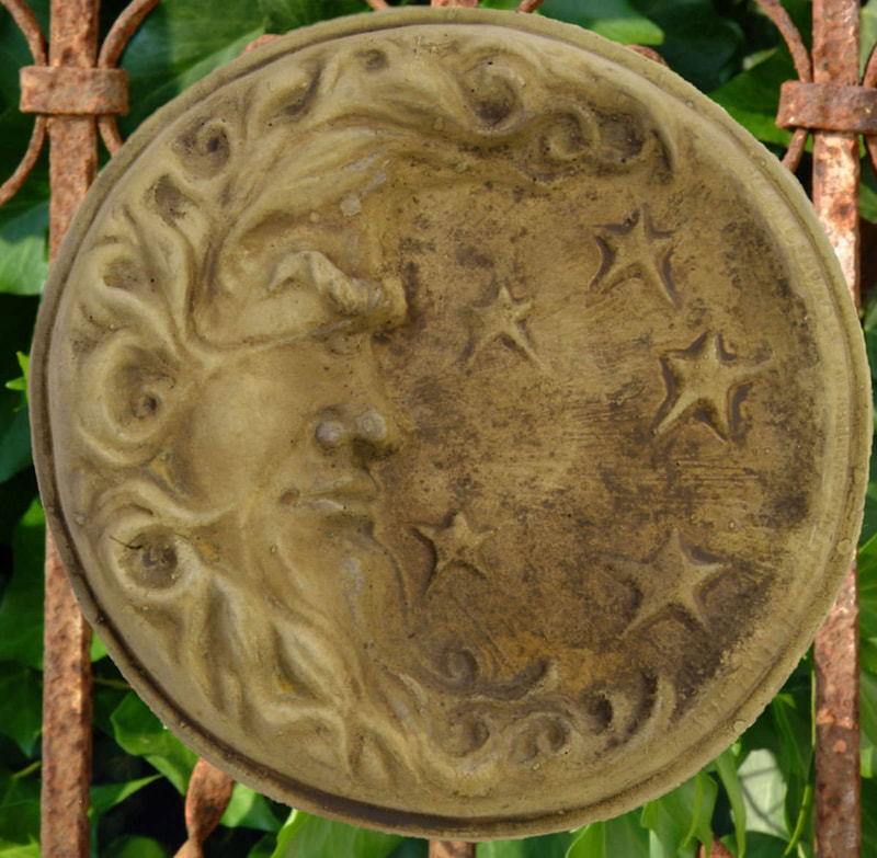 Unique Stone Round Moon Plaque