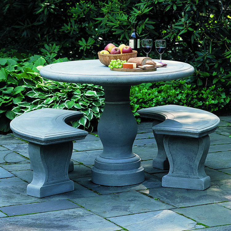 Campania International Palladio Table and Benches