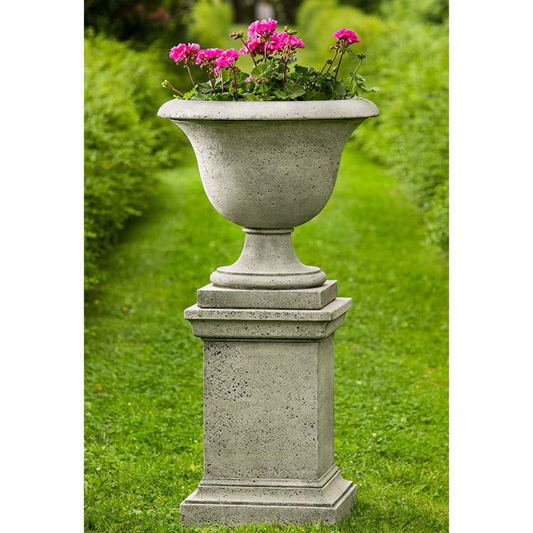 Campania International Greenwich Rustic Pedestal and Urn