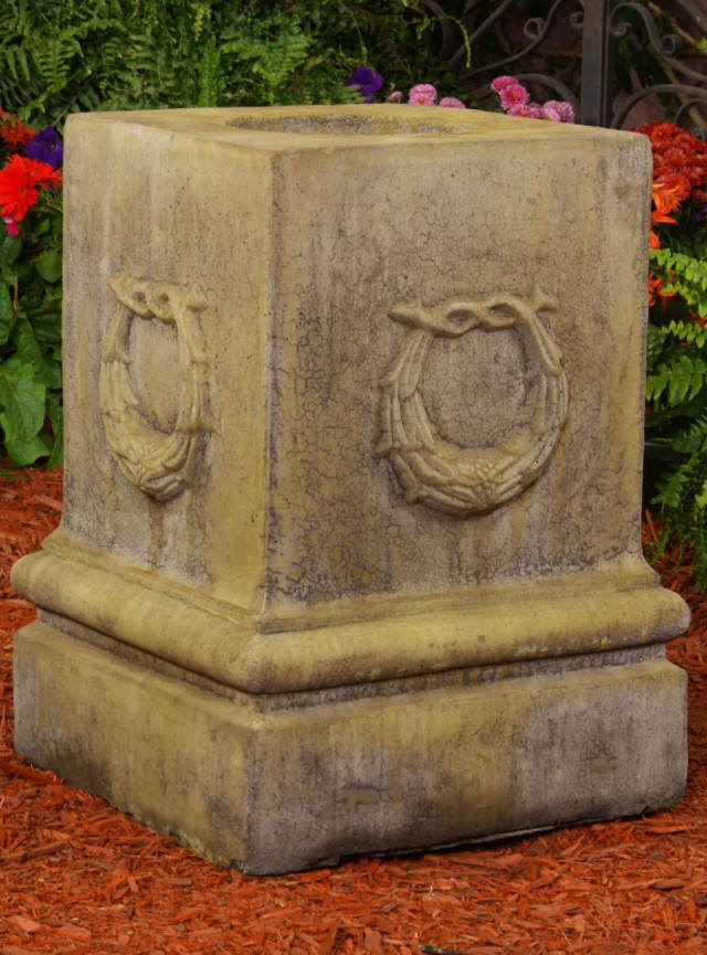 Unique Stone Renaissance Wreath Pedestal