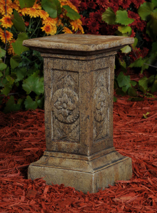 Unique Stone Flower Pedestal - Small